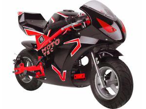 MotoTec Gas Pocket Bike GT 49cc 2-Stroke - RED or BLUE - MT-Gas-GT - NO CA SALES