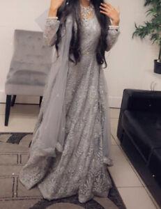 Pakistani/ Indian Asian Style Wedding Dress With Duppata