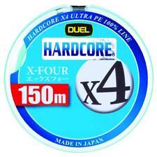 NEW Duel Hardcore X4 150m 12lb/5.4kg #0.6 White 4 Braid PE Line H3273-W JPN