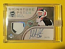 05/06 UD The Cup #MB Martin Brodeur 2 Clr Patch On Card Autograph #24/75 Buyback