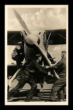 DR JIM STAMPS SOLDIERS AIRPLANE PROPELLER MILITARY POSTCARD GERMANY CUPPED