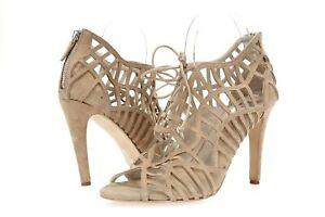 Womens DV DOLCE VITA 205442 beige suede gladiator heels sz. 9.5