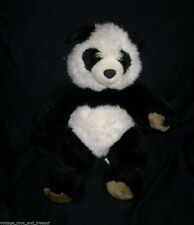 "16"" BUILD A BEAR BLACK / WHITE PANDA TEDDY BEAR STUFFED ANIMAL PLUSH TOY BABW"