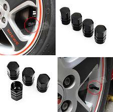 BLACK Wheel Rim Tyre Metal Air Valve Caps Dust Covers Car Bike Van Metal HS6 4PC