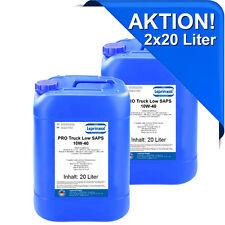 2x20l LPTLS 10W40 Motoröl für API CI-4 40 Liter