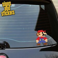 1x Super Mario nintendo Sticker Peeper Window Bumper Decal JDM Euro DUB JDM bomb