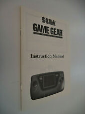 SEGA Game Gear HandHeld Console System Instruction Manual Booklet Only