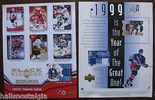 2 Hockey Trading Card Sell Sheets (no cards) 2000 Black Diamond, Wayne Gretzky +