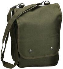 Olive Drab Map Case Shoulder Bag Canvas Map Bag w/ Shoulder Strap