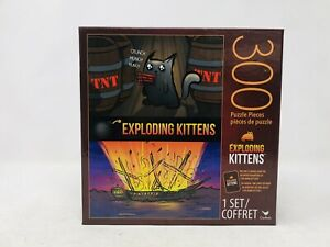 300 pc Exploding Kittens Puzzle BRAND NEW Includes Bonus Card!