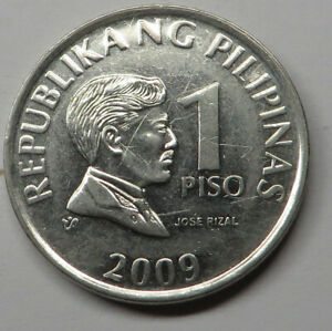 Philippines Piso 2009 Nickel Plated Steel KM#269a
