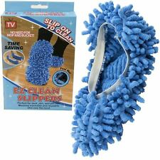 EZ Clean Dust Mop Slippers Lazy Quick House Floor Polishing Cleaning Socks Shoes