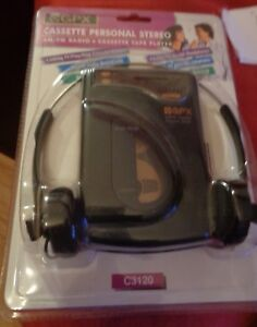 GPX Cassette Personal Stereo Am/FM Radio & Tape Player C3120