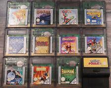 Game Boy Color Spiel Auswahl Spiele Nintendo GBC Game Hülle Anleitung