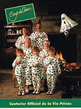 PUBLICITE ADVERTISING 035  1995  COUP DE COEUR   pyjamas homme femme enfant