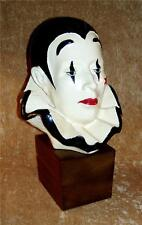 Vintage PIERROT CLOWN Head BUST Lifesize Sculpture ~ LIMOGES CREATIONS LTD. 1982