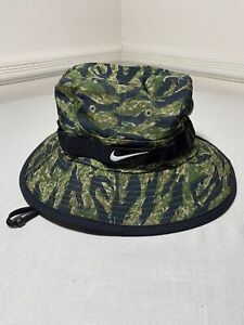 Nike DriFit Tiger Jungle Camo Camouflage Bucket Hat Size S/M AH0001 011