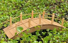 Miniature Dollhouse Fairy Garden Furniture ~ Wood Bridge ~ New