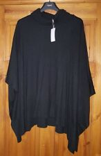 NEXT BLACK ROLL NECK CASHMERE WOOL MIX PONCHO TOP UK SMALL EUR 36-38 NEW TAG