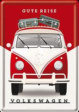 Nostalgic Art Blechpostkarte VW Bulli gute reise VOLKSWAGEN 14 X 10 Cm *