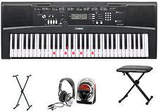 Yamaha ez-220 Keyboard bundle II con soporte, auriculares y banco Keyboard