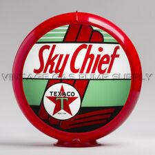 "Gas Pump Globe Texaco Sky Chief 13.5"" w/ Red Plastic Body (G196)"