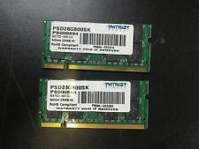 8GB (2 x 4GB) Patriot Memory  PC2-6400 DDR2 800MHz Laptop Memory SODIMM