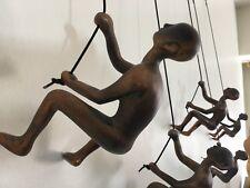 5 Piece Climbing Sculpture Wall Art Gift For Home Decor Interior Design bronze