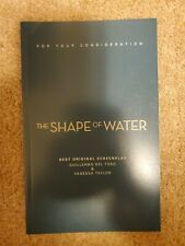 The Shape of Water FYC screenplay book new rare Guillermo del Toro