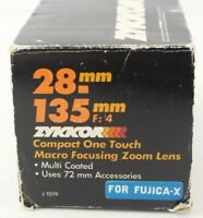 Zykkor 28-135mm f4.0 Compact One Touch Macro Focusing Zoom Lens for Fujica-X