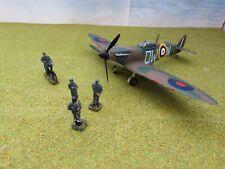 1/72 20mm Segunda Guerra Mundial RAF Supermarine Spitfire Mk.1a y tripulación de tierra Pintado