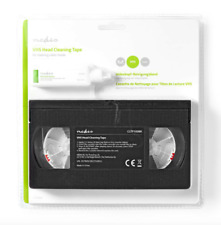 Nedis Branded VHS WET & DRY HEAD CLEANER CLEANING TAPE CASSETTE + FLUID VCR