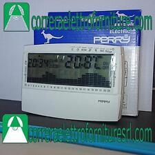 Cronotermostato digitale giornaliero da parete batterie bianco Perry 1CRCR017BG