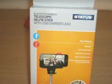 Status Telescopic selfie stick with USB charger lead and bluetooth enabled NEW