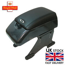 Carbon Armrest Centre Console Black Fits Vw Golf Mk3 Mk4 Mk5