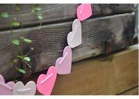 1X Heart Bunting Banner Garland Wedding Baby Shower Birthday Party Decor GT