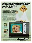 1969 Pretty blond woman Admiral Color televisions vintage photo Print Ad  ADL13 photo