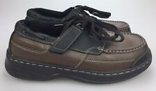 Orthofeet Mens 8.5 D Shoe 422 Comfort Diabetic Therapeutic Brown Tie Less Oxford