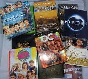 Lot of 20 DVD Box Sets Friends Melrose OC Beverly Hills 90210 Golden Girls Heros