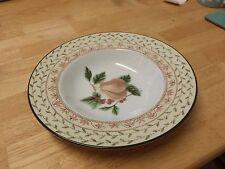 """Soup bowls x8 Fruit sampler patterned 9"""" diameter Johnson Brothers Bros"""