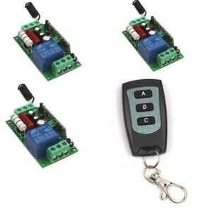 110V 220V 1CH Channel Wireless Remote Switch Transmitter+Receiver ON/OFF Module