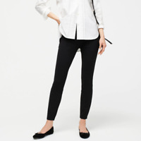 J.Crew Womens Pixie Dress Pants in Stretch Ponte Skinny Back Zip Size 2 Black