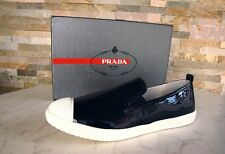 Prada Gr 36,5 Zapatillas Mocasines Slip-On Zapatos 3S5952 Azul Royal Antiguo