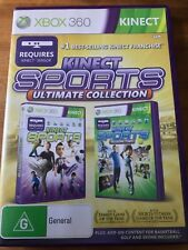 KINECT SPORTS ULTIMATE COLLECTION XBOX 360 AUS PAL VGC TWO GAMES IN ONE WITH DLC