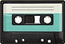 Blechschild Retro Cassette, Nostalgie Schild 30 cm,Sheet Sign