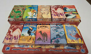 Collectible Camel TIN  ART SET  Collector's LOOK AT THE PICTURES