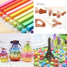 80/160pcs Origami Lucky Star Paper Strips Folding Paper Ribbons 10 Colors