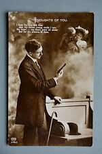 R&L Postcard:  Romantic Sentimental, Thoughts of You, EAS, Man Viewing Card