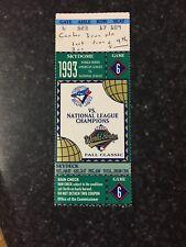1993 World Series MLB Game 6 Ticket Stub Joe Carter WalkOff HR Toronto Blue Jays