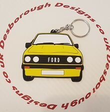 Ford MK2 Escort Rs 2000 Key Ring Signal Yellow Front